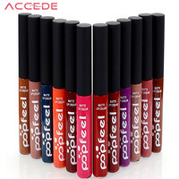 POPFEEL Luxury Matte Liquid Lipstick 12 Colors Party Does Not Stick Cup Lipstick With Brush Bown Arrow Show Your Sexy Lolita