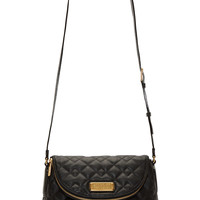 Marc By Marc Jacobs Black Grained Leather Quilted Natasha Bag