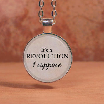 "Imagine Dragons ""It's a Revolution, I suppose"" Lyrics Song Text Poem Pendant Necklace"