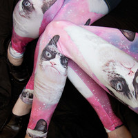 Grumpy Cat Grumpy Space Leggings - Sock Dreams
