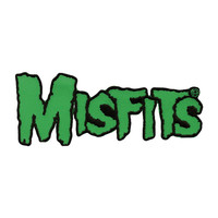 Misfits Men's Green Logo Embroidered Patch Green
