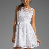 BB Dakota Huela Organza Embroidered Dress in Optic White from REVOLVEclothing.com