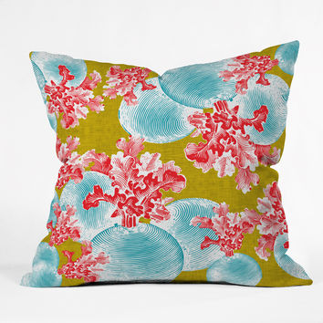 Caroline Okun Betacyan Throw Pillow