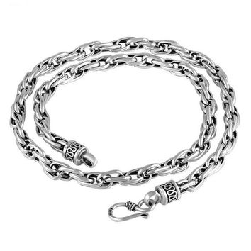 Hunky Vintage 925 Sterling Silver Twist Link Chain Necklace for Men's by Ritzy