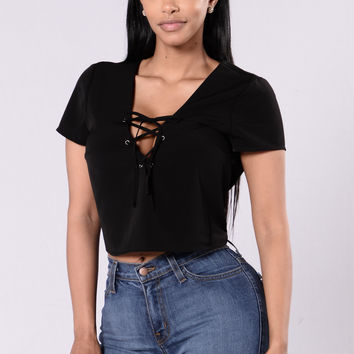 Short And Sweet Top - Black