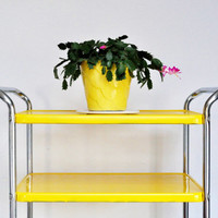Bright Yellow Cosco Cart