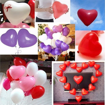 50Pcs Heart-Shaped Durable Latex Balloons for Home Wedding Party Birthday Valentine Proposal Decoration [7983360711]