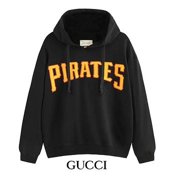 GUCCI Autumn Winter Fashion Men Women Casual Print Hoodie Sweater Top Sweatshirt