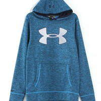 Under Armour Storm Armour Twist Fleece Big Logo Hoodie for Men in Electric Blue 1259778-428