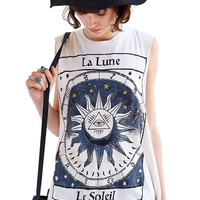 Sleeveless Sun Print T-Shirt