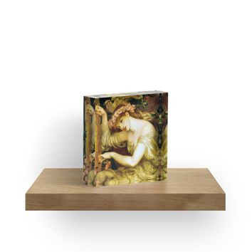 ' Sea Spell Pre Raphaelite 1877' Acrylic Block by JoieDesigns