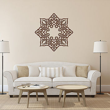 kik357 Wall Decal Sticker Room Decor Wall Art Mural mandala Buddhist meditation Hindu Hinduism India Ornament living room