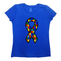 Autism Awareness Shirt Autism Spectrum Autism Speaks T Shirt Awareness Ribbon Puzzle Piece Support Gifts Autism Ribbon Mens Tee - SA767