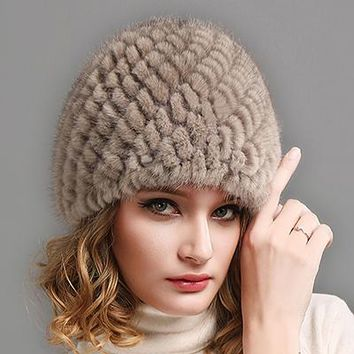 Furry Winter Beanie Hat for Women