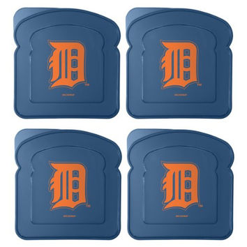 MLB Detroit Tigers 4-Pack Sandwich Container