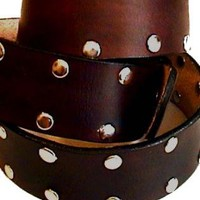 Studded Belt - Dark Brown (or specify your color)