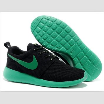 NIKE fashion network sports shoes casual shoes Black and green