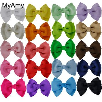 MyAmy 40pcs/lot 4'' boutique hair bows WITHOUT clips for headbands grosgrain boutique Bow children kids teens toddlers