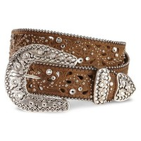 Justin Palazzo Bling Leather Belt - Sheplers