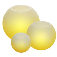 Round Flameless LED Candle Trio Home Decor