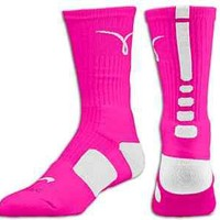 AUTHENTIC NIKE ELITE SOCKS/2.0/USA/BREAST CANCER/LEBRON - SIZE LARGE(8-12)