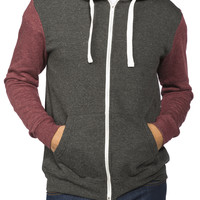 Guys Colour Block Full Zip Fleece Hoodie