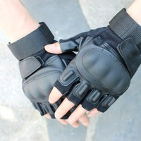 s Outdoor Half Finger Army Military Tactical Airsoft Hunting brand Gloves,Bike Riding Cycling Camping Gloves 3 color
