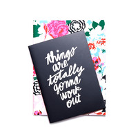 good ideas notebook set - florabunda + things are totally gonna work out