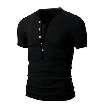Slim Henley Shirt Button