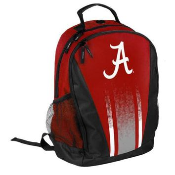 * Alabama Crimson Tide Striped Primetime Backpack Gym Bag *