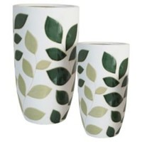 One Kings Lane - Artful Accents - S/2 Leaf Planters