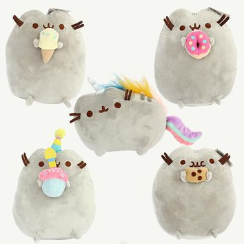 5pcs/lot 15cm Pusheen Cat Cookie & Icecream & Doughn Style Plush Toys Soft Stuffed Animals Toys for Kids Children Xmas Gifts