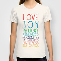 Fruits of the Spirit: Rainbow T-shirt by PrintableWisdom | Society6