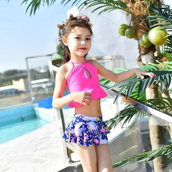 Lady swim bathing suit princess swimsuit beautiful and colorful swimwear for teenager child girls swimming suits