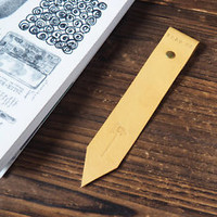 Handmade Leather Bookmark - Bookmarks Hand stitched BookMark Personalized#Yellow
