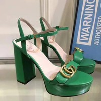Gucci Women Casual Shoes Boots fashionable casual leather Women Heels Sandal Shoes created