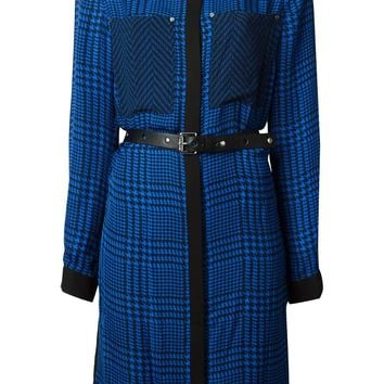 Michael Michael Kors houndstooth print belted dress