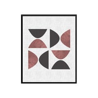 Abstract Art Print, Geometric Wall Art, Printable Art, Mid Century Modern, Geometric Art, Wall Decor, Scandinavian Art - Instant Download