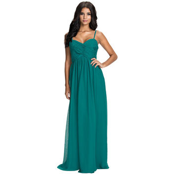 Women's A-line Party Dress Wrap Bust Sleeveless Strapless Floor Length Long Chiffon Summer Style Maxi Dress