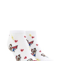 Superhero Pug Print Ankle Socks