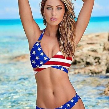 USA Colors Two Piece Swimsuit