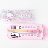 Hello Kitty 3 Piece Cutlery Set: Bows