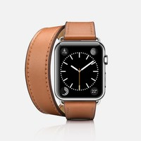 Double Tour Apple Watch Band (38mm) - Brown - Casetify