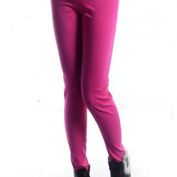High Waist Skinny Elastic Pencil Leggings