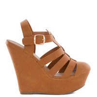 Sophia Wedges - Tan
