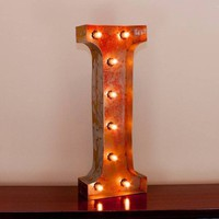 "24"" Letter I Lighted Vintage Marquee Letters with Screw-on Sockets"