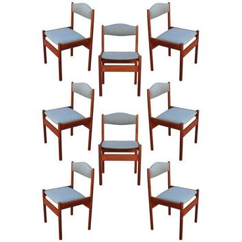 Pre-owned Danish Modern Dining Chairs - Set of 8