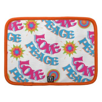 Funky Love and Peace Hippy Sixties Pattern Folio Planners
