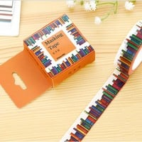 1.5cm*10m Library washi tape DIY decoration scrapbooking masking tape adhesive tape label sticker kawaii stationery