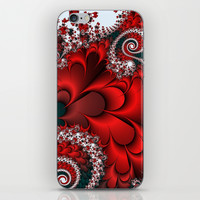 Red Sweetheart Fractal iPhone & iPod Skin by Moody Muse | Society6